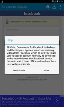 FB Video Downloader 4 Facebook apk screenshot