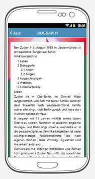 Ben Zucker songs & lyrics. screenshot 3