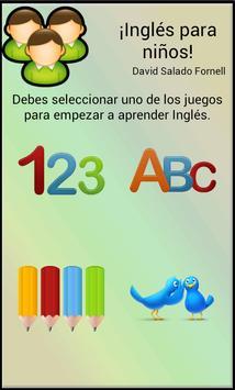 Inglés para niños poster
