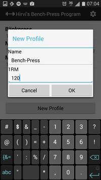 Hirvi's Bench-Press Program apk screenshot