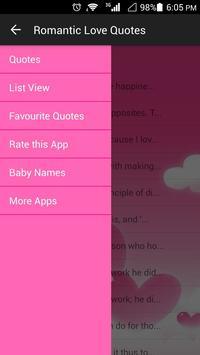 Romantic Love Quotes apk screenshot