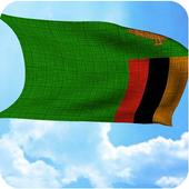 Zambia flag 3D live wallpaper icon