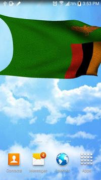 Zambia flag 3D live wallpaper screenshot 2