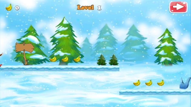Curious Monkey Frozen apk screenshot