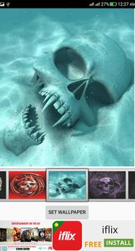 Skull Live Wallpaper apk screenshot