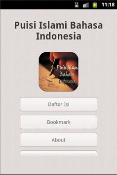 Puisi Islami Bahasa Indonesia apk screenshot