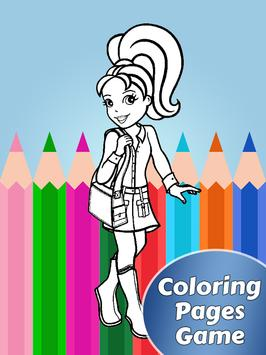 Coloring of Pollly Packet Doll poster