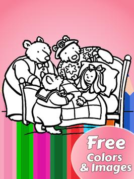 Goldilocks & 3 Bears Coloring screenshot 6