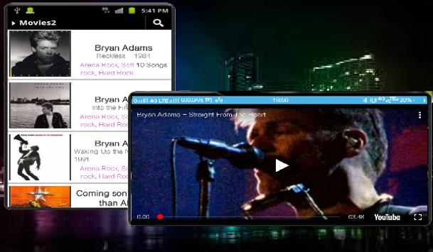 Bryan Adams Video Full Album HD for Android - APK Download