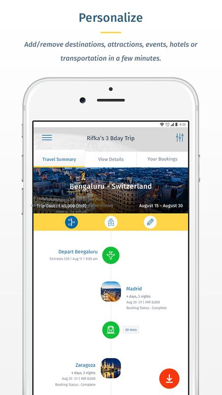 free mobile travel itinerary builder trip planner scheduler fake