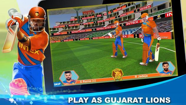 Gujarat Lions T20 Cricket Game पोस्टर
