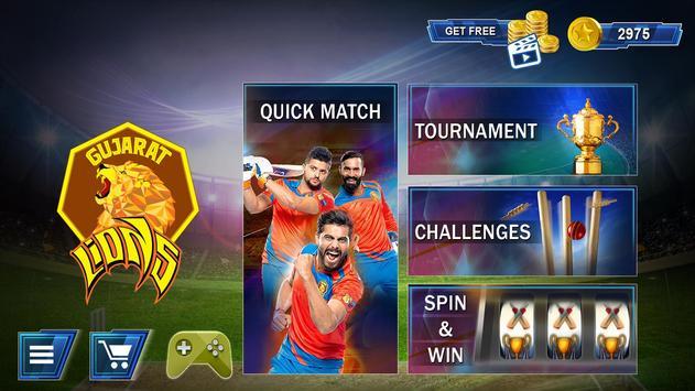 Gujarat Lions 2017 T20 Cricket पोस्टर