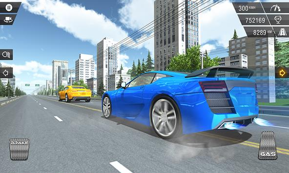 City GT Car Racer in Traffic poster