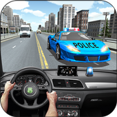 Racing In Police Car icon