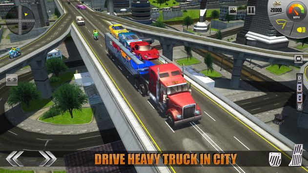 Car Transporter Truck Drive 3D apk screenshot