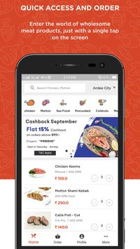 Raw Chicken, Mutton, SeaFood, Meat Ordering App poster