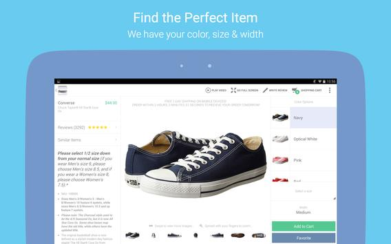 Zappos – Shoe shopping made simple apk screenshot