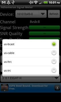 Hdhomerun Signal Meter screenshot 1