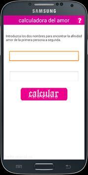 calculadora del amor screenshot 1
