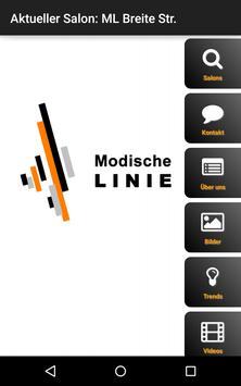 Modische Linie poster