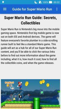 Guide for Super Mario Run apk screenshot