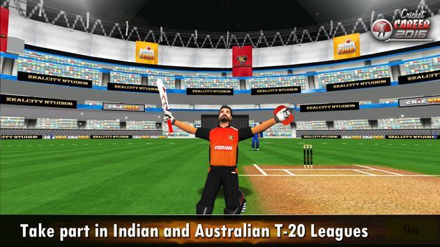 Cricket Career 2016 تصوير الشاشة 10