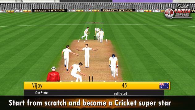Cricket Career 2016 تصوير الشاشة 17