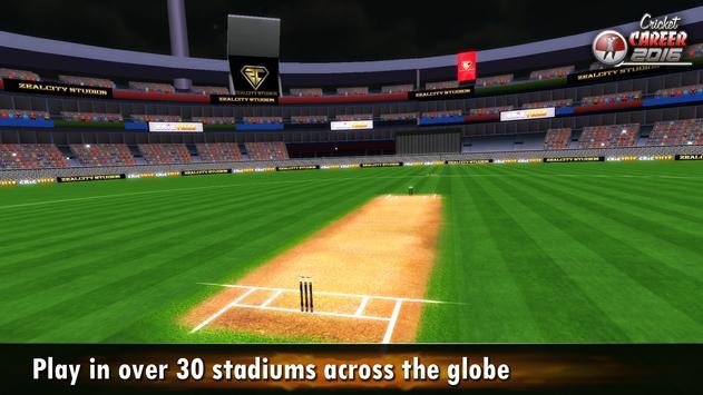 Cricket Career 2016 تصوير الشاشة 6
