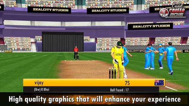 Cricket Career 2016 تصوير الشاشة 9