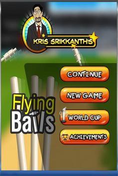 Kris Srikkanth's Flying bails poster