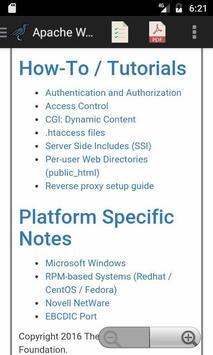 Reference Manual for Apache Web Server apk screenshot