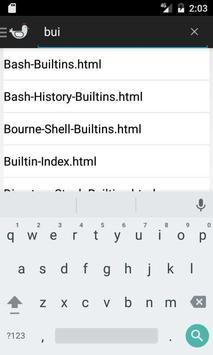 Linux  Bash Reference Manual apk screenshot