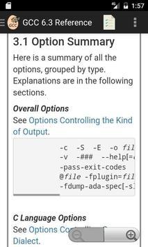 GNU GCC 6.3 Compiler Reference poster