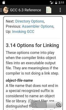 GNU GCC 6.3 Compiler Reference apk screenshot