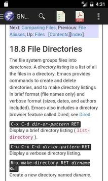 Linux Emacs Editor Manual apk screenshot