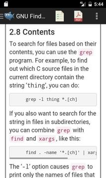 Linux Find Utility Manual apk screenshot