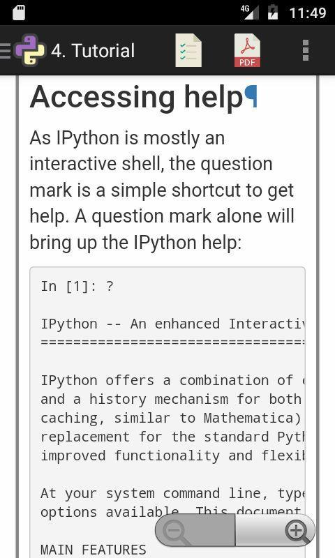 IPython (Jupyter Notebook) Reference Manual for Android - APK Download