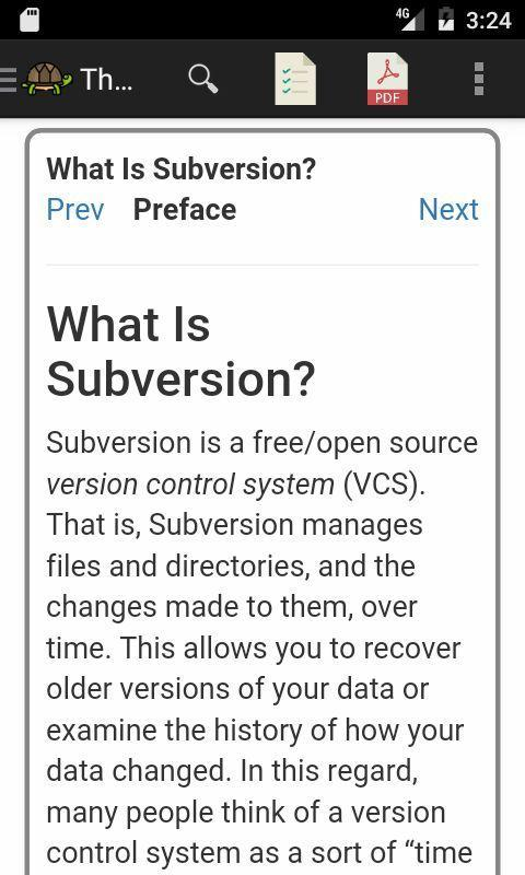Subversion (svn) Reference for Android - APK Download