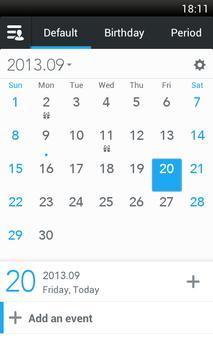 ZDcal-Calendar, Agenda, Period poster