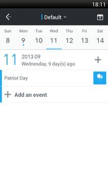 ZDcal-Calendar, Agenda, Period screenshot 1