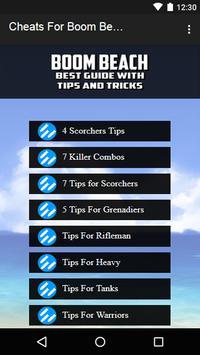 Cheats For Boom Beach Prank apk screenshot
