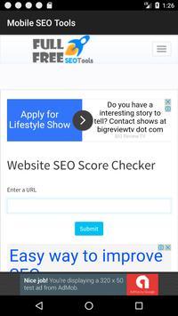 Mobile SEO Tools apk screenshot