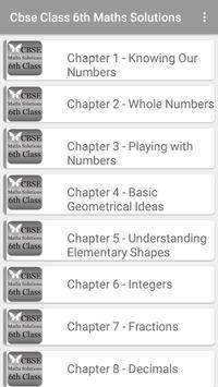 CBSE Maths Solutions 6th Class poster