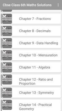 CBSE Maths Solutions 6th Class screenshot 1
