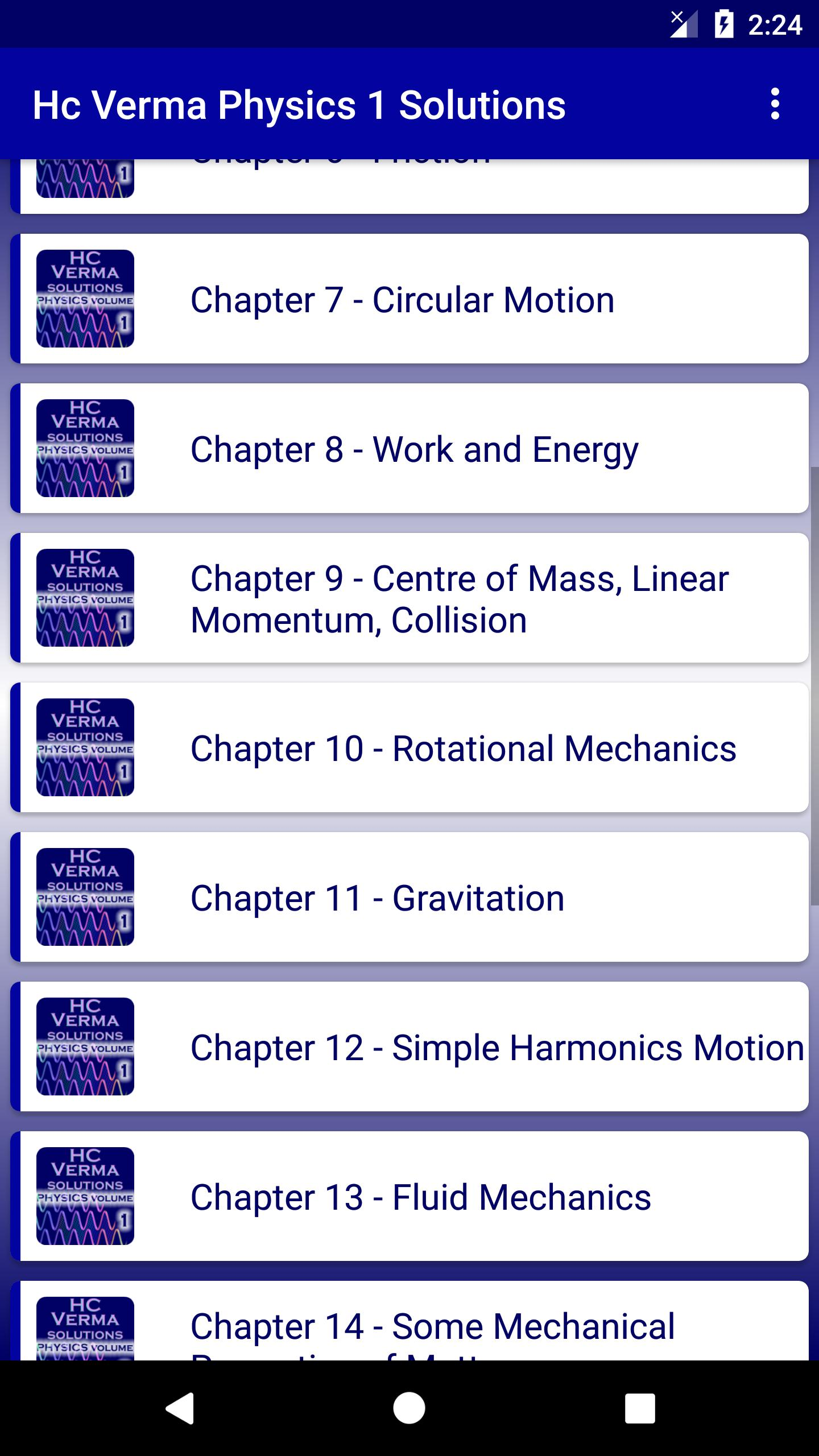 HC Verma - Concepts of Physics Part 1 Solutions for Android - APK
