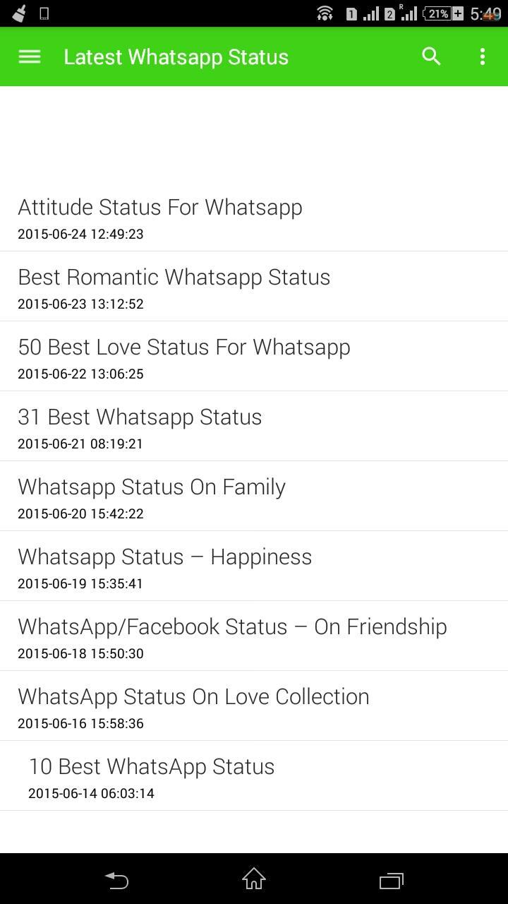 Best Whatsapp Status Daily For Android Apk Download
