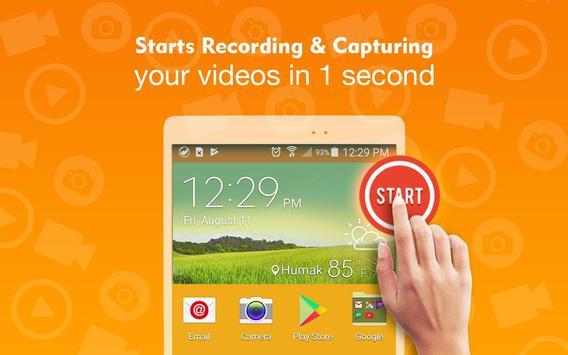 Screen Recorder Audio Video -No RooT & HD Recorder screenshot 7