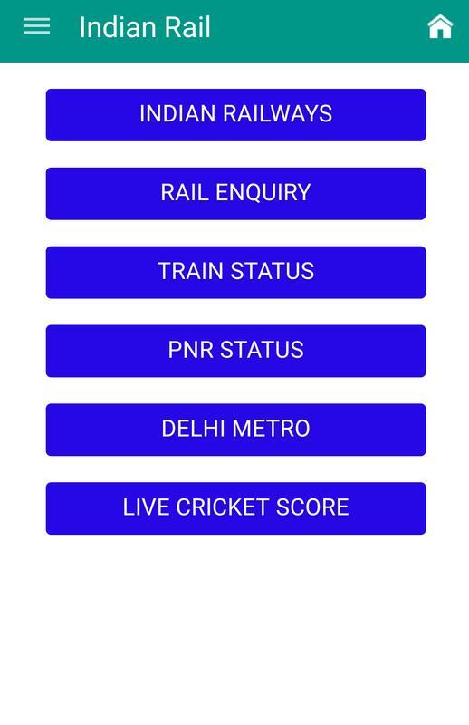 Pnr Status Indian Railways Apk Download Free Travel