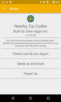 Nearby Zip Codes screenshot 2