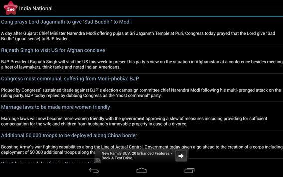 Zee News India apk screenshot